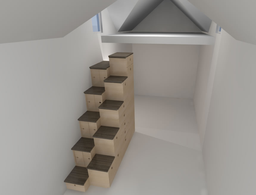 alternating step tansu tiny house - 14+ Small House Steps Design  PNG