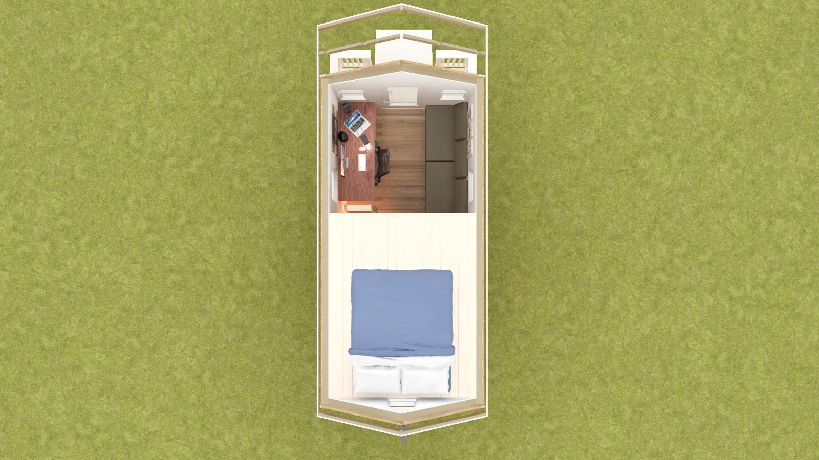 Calpella 18 Tiny House Floor Plan Upper Level