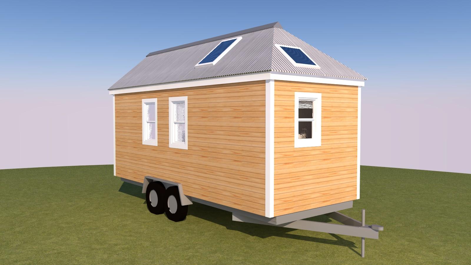 Caspar 20 Tiny House Exterior Back Right
