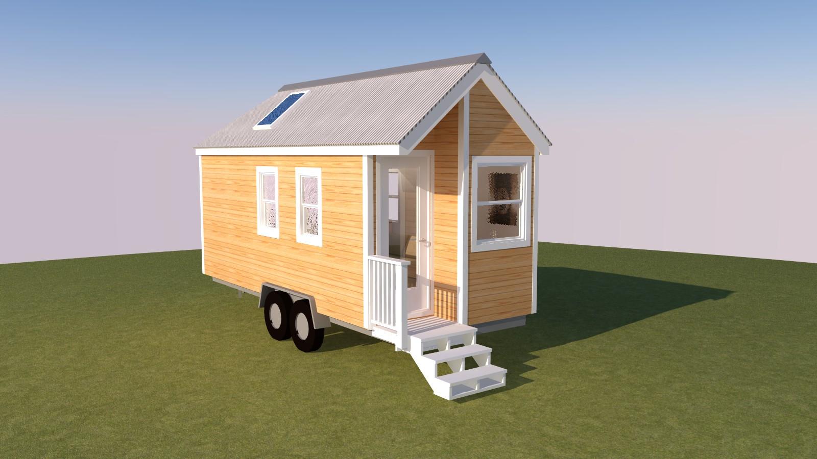 Caspar 20 Tiny House Exterior Front Left