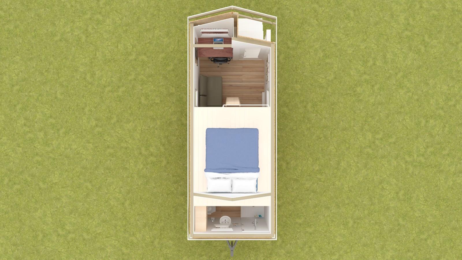 Caspar 20 Tiny House Floor Plan Upper Level