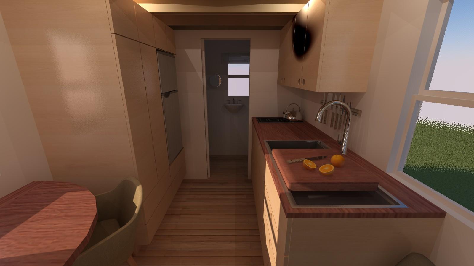 Caspar 20 Tiny House Interior Kitchen