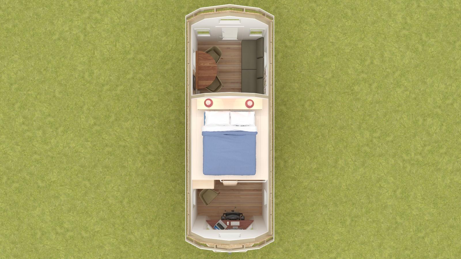 Covelo 20 Tiny House Floor Plan Upper Level