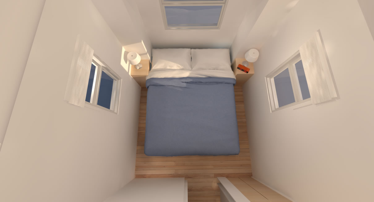 House interior bedroom - Little River 24 Tiny House Interior Bedroom