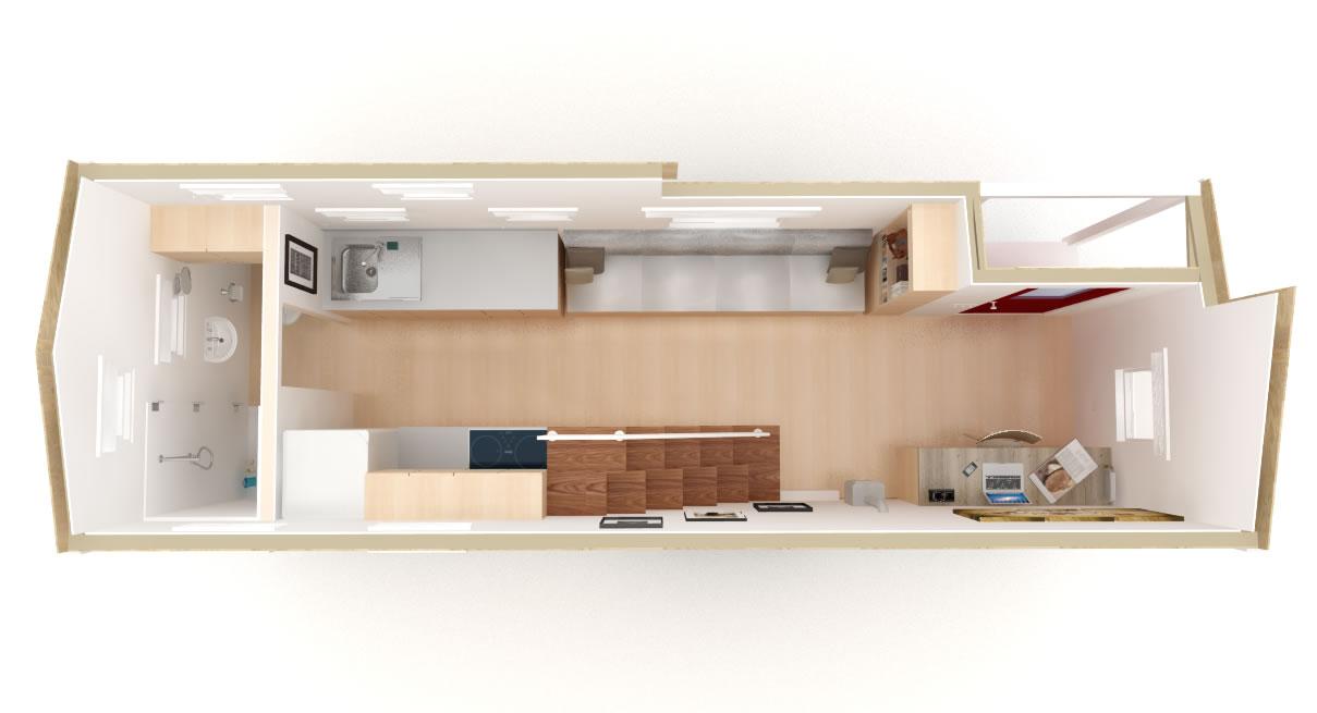 Tiny Home Design Plans bedroom design blue design kitchen