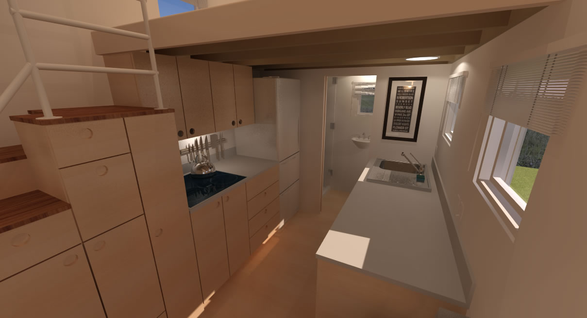 Potter Valley Tiny House Interior Kitchen