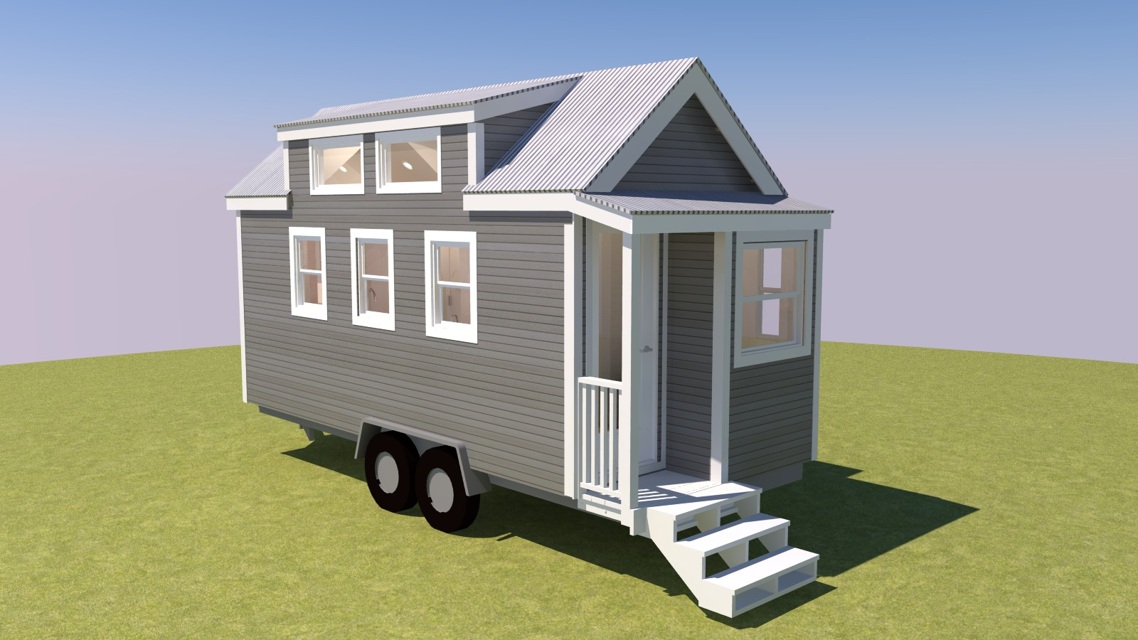 Talmage 20 Tiny House Exterior Front Left