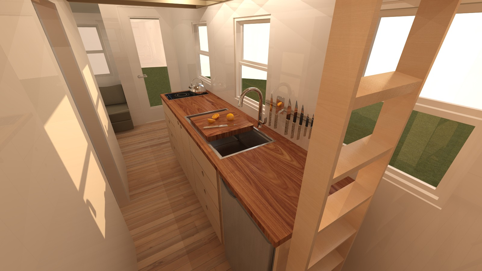 Talmage 20 Tiny House Interior Kitchen