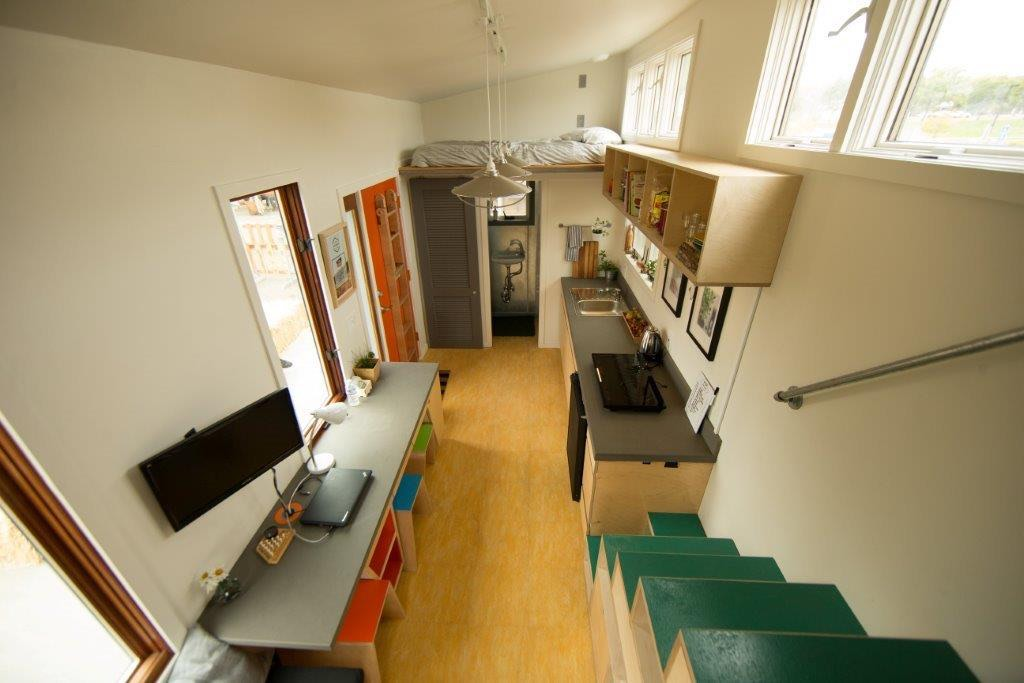 View from Loft - The Wedge - Net Zero Tiny House