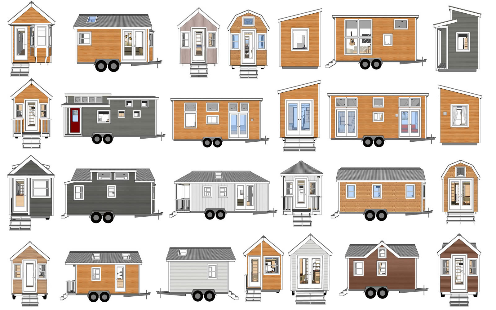 Mix U0026 Match Your Own Tiny House Design Mashup