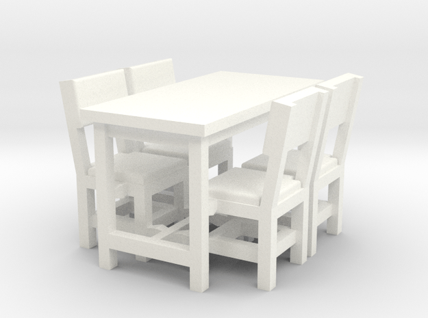 Table and 4 chairs tiny house