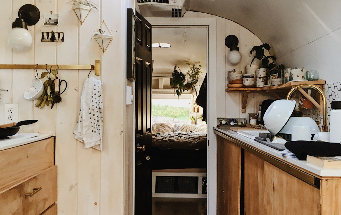 Kitchen - Fully Renovated 1971 Airstream Sovereign