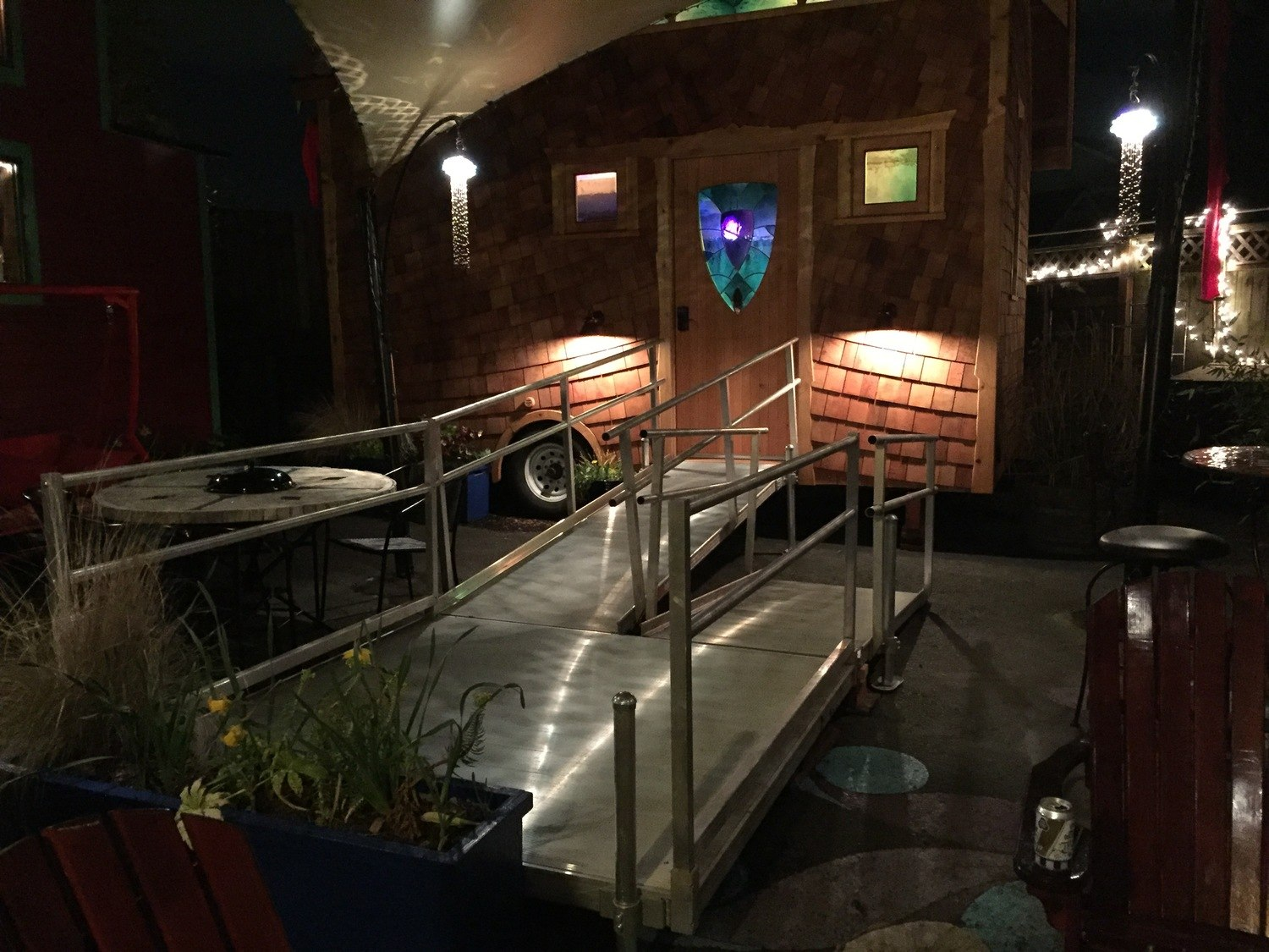 Wheelchair Ramp - Pacifica by Zyl Vardos at the Tiny House Hotel