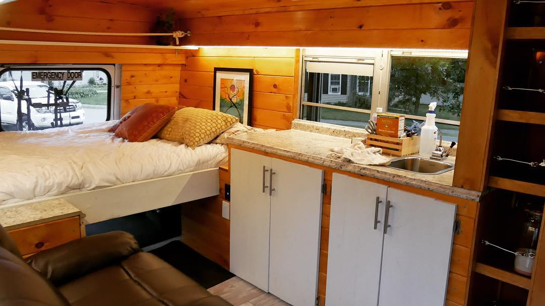 Got Laid Off? Build a Bus-Based Tiny House!