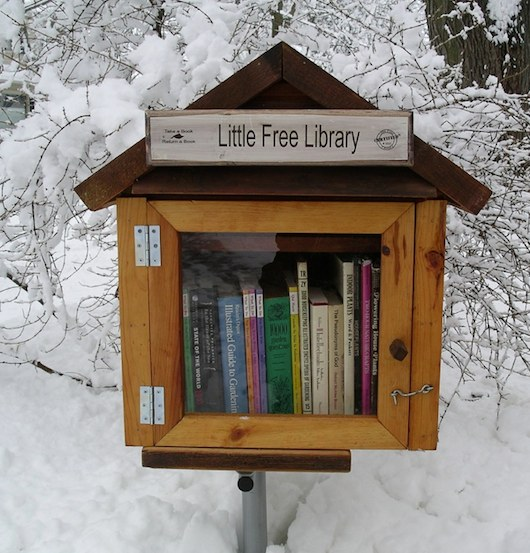free tiny house library 01   Tiny House Libraries Are Real in Wisconsin