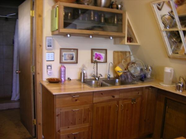 green a frame tiny house 3   Top 6 A Frame Tiny Houses