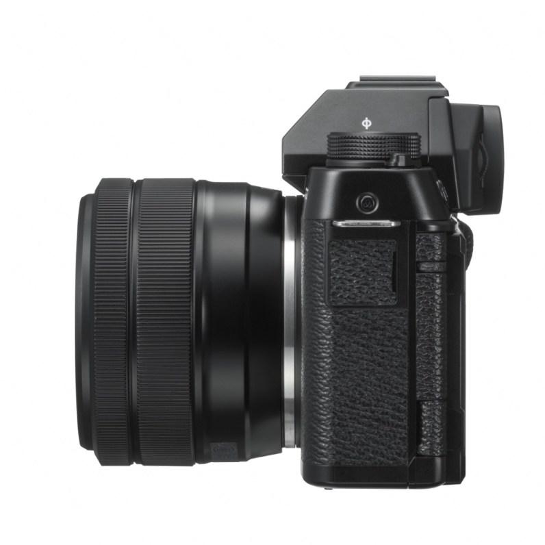 FUJIFILM_X_T100_Black_LeftSide_XC15_45mm