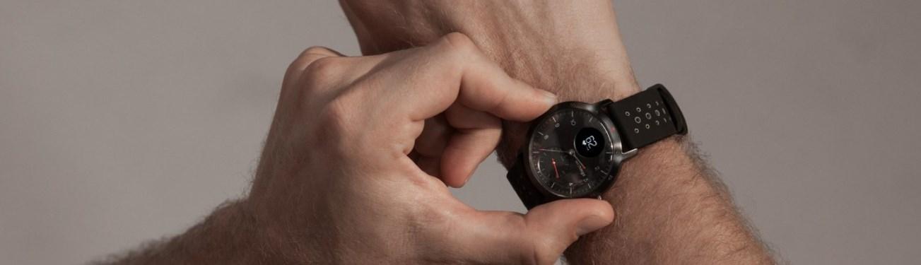 bracelet cuir withings steel hr sport