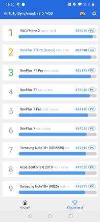 Benchmark OnePlus 7T