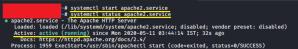 start apache ubuntu