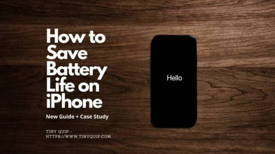 save iphone battery