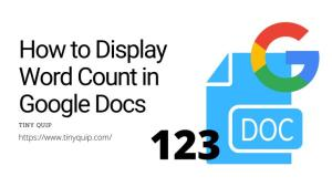 view google documents word count and page count