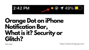 orange dot on iPhone