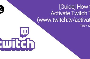 www twitch tv activate