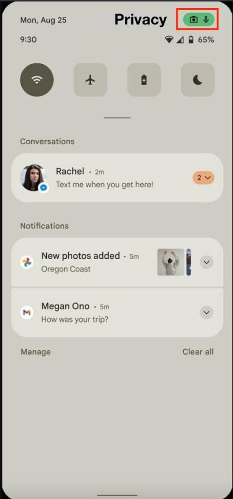 google android 12 new privacy feature