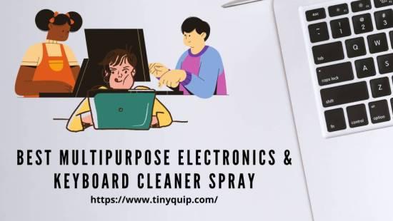 clean keyboard using keyboard cleaner spray