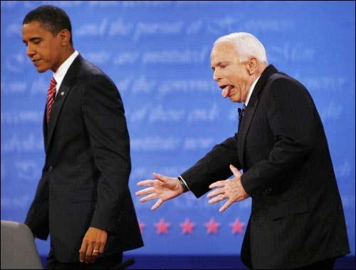 McCain ser ut som... nej, det går inte att beskriva.