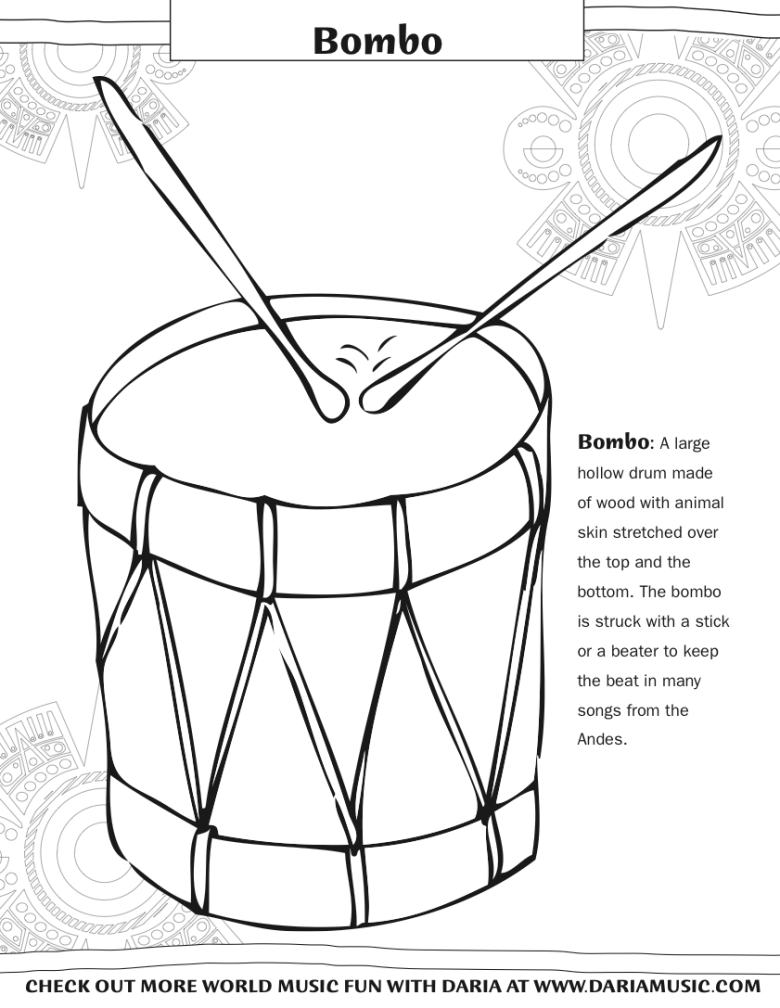 coloring pages musical instruments | tiny tapping toes
