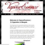 Wesbite Design for Vapour Essence