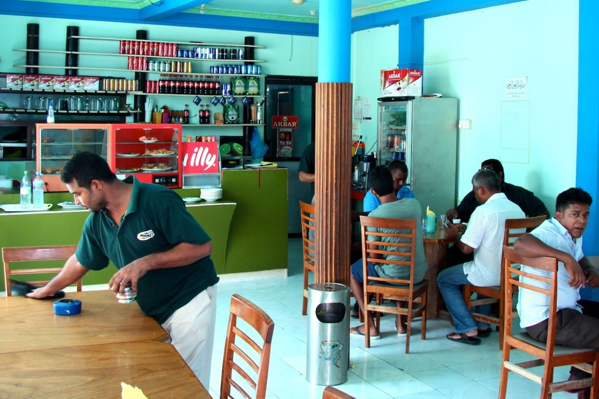 a typical maldivian cafe