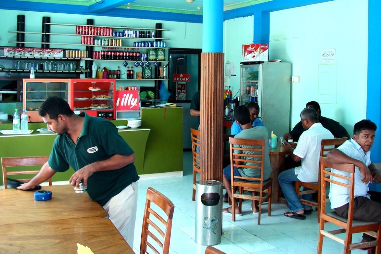 a typical maldivian cafe