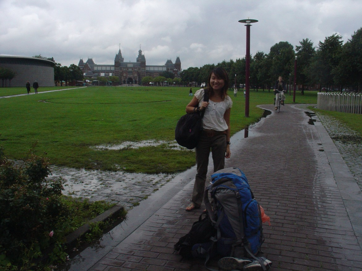tiny wanderer in amsterdam as a solo backpacker