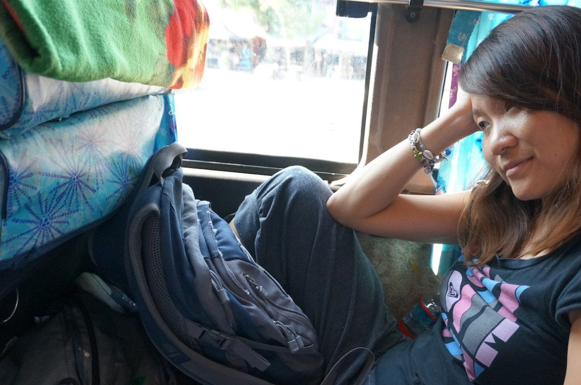 crappy bus ride from dawei to yangon