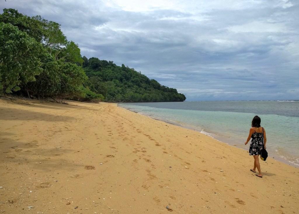 beach on hatta island, banda island, maluku