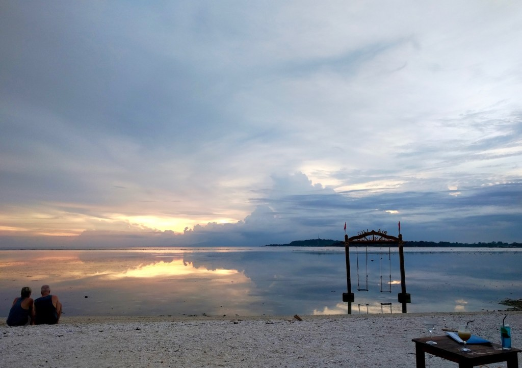swings in front of Gili Lumbung, Gili Air