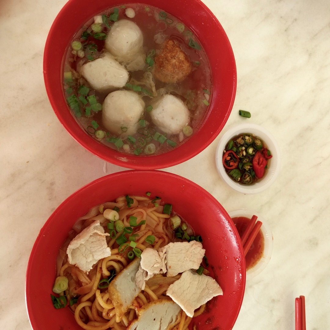 fishball noodles in Johor