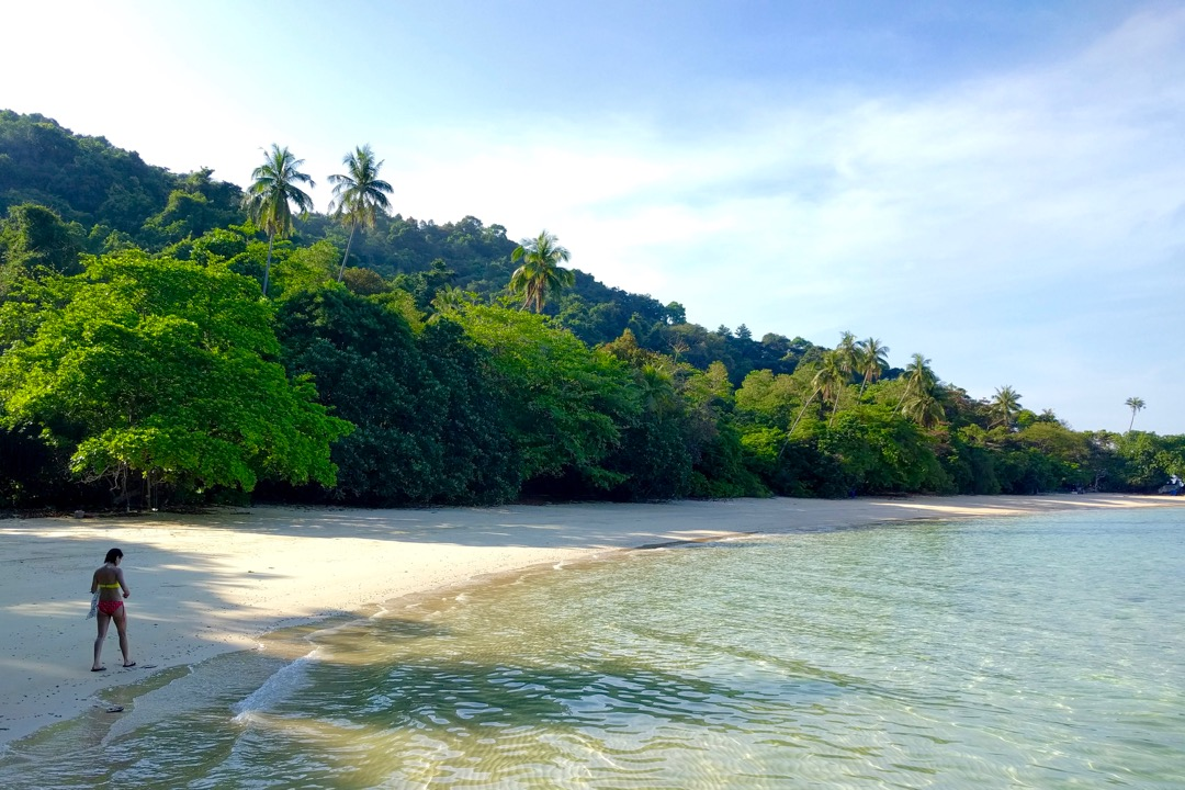 The quieter bay after Qimi's Chalets in Pulau Kapas