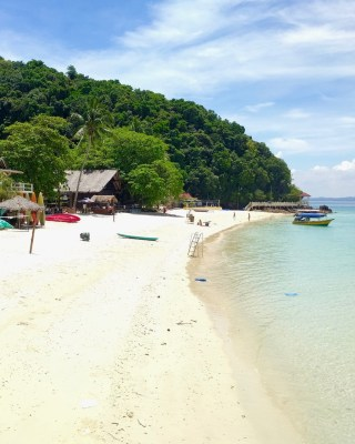 Beach in front of KBC, Ombak Kapas and Kapas Coral Beach Resort