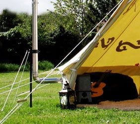 Pipsqueak stove in bell tent