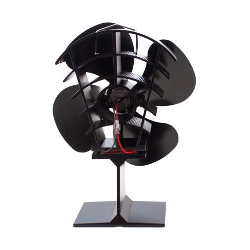 180 CFM Heat Powered Stove Fan Back