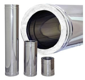 3 Insulated Stainless Steel Flue Pipe Tiny Wood Stove