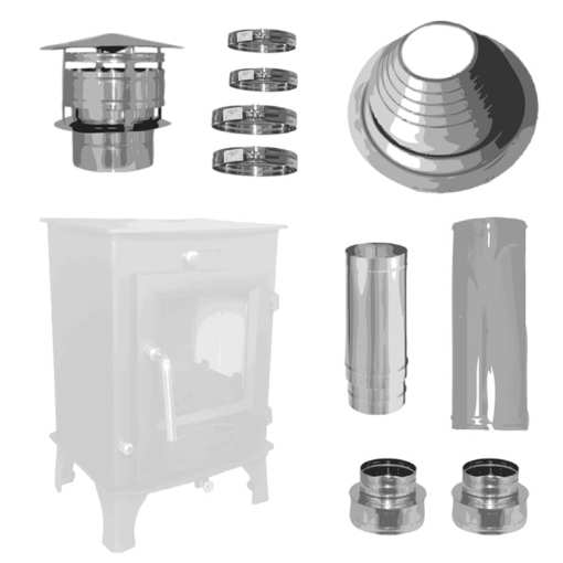 4inch Small Stove Installation Kit