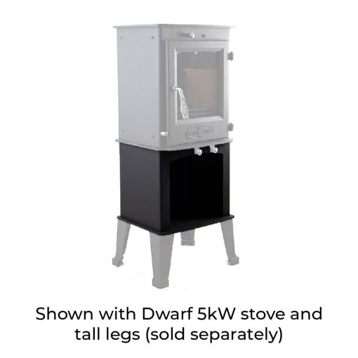 5kW Wood Storage Stand with Dwarf 5kW and Tall Legs