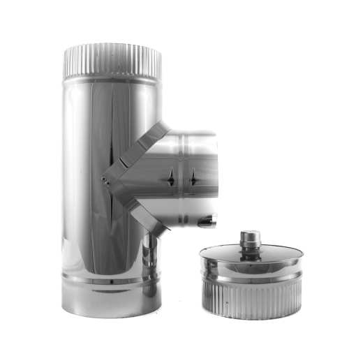 4 inch double-wall insulated class A tee and cap