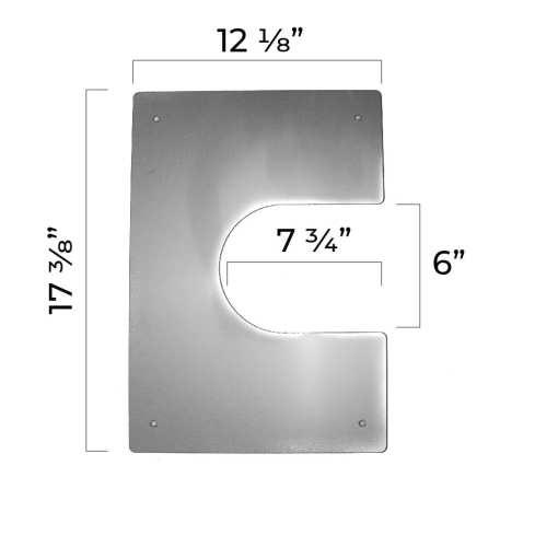 4 inch interior trim plate dimensions half