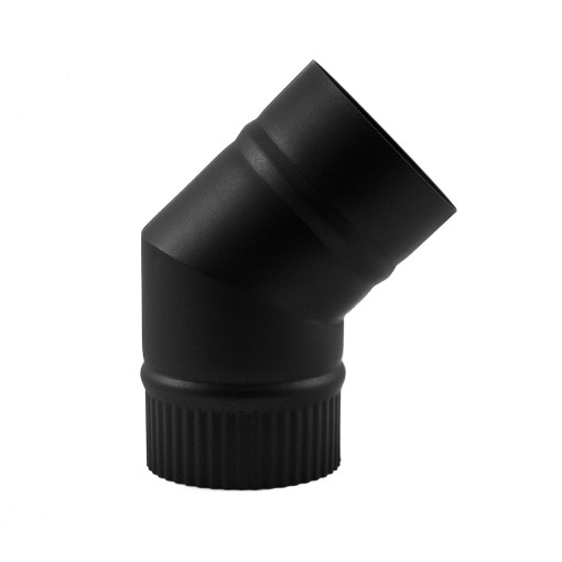4 inch single-wall stovepipe 45 degree elbow